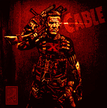 Cable fanart red by Greg Dampier - Illustrator & Graphic Artist of Portland, Oregon