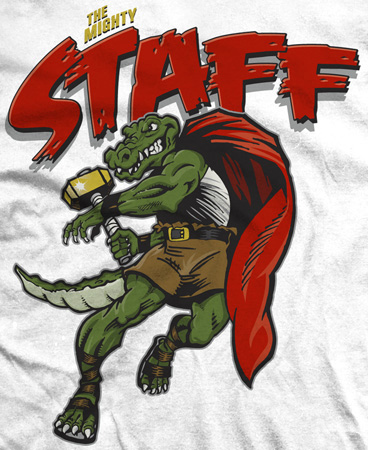 The Mighty Staff by Greg Dampier - Illustrator & Graphic Artist of Portland, Oregon