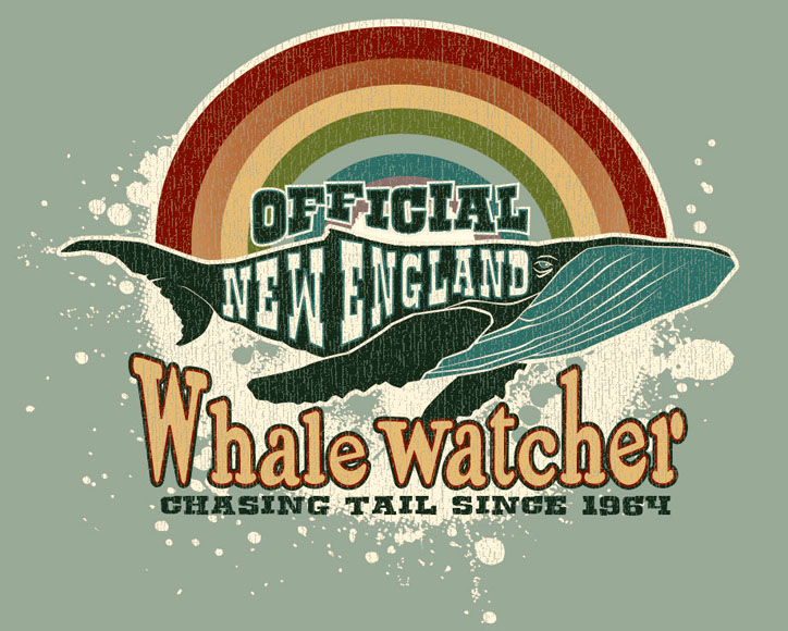 whale watcher tee by Greg Dampier - Illustrator & Graphic Artist of Portland, Oregon