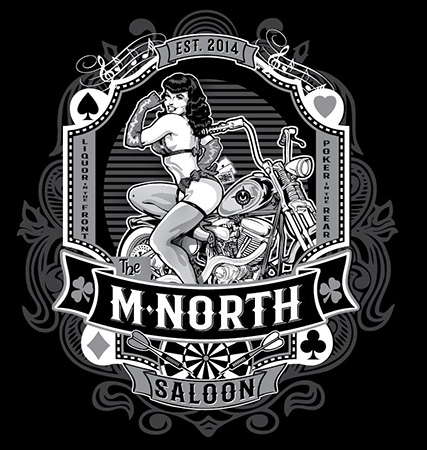 M North saloon Pinup 2021 by Greg Dampier - Illustrator & Graphic Artist of Portland, Oregon