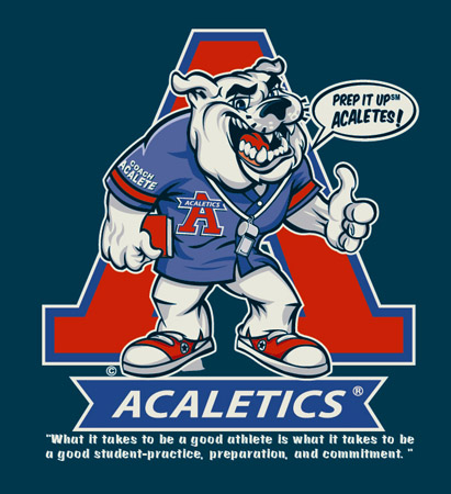 acaletics mascot navy by Greg Dampier - Illustrator & Graphic Artist of Portland, Oregon