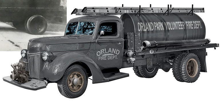 Orland Vintage Fire Truck Tanker by Greg Dampier - Illustrator & Graphic Artist of Portland, Oregon