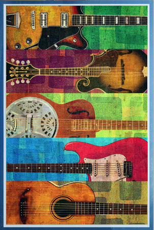 Guitars montage by Greg Dampier - Illustrator & Graphic Artist of Portland, Oregon