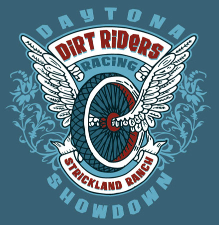 DIRTRIDERS LOGO by Greg Dampier - Illustrator & Graphic Artist of Portland, Oregon
