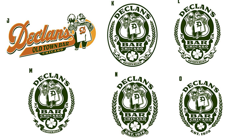 bar Logos by Greg Dampier - Illustrator & Graphic Artist of Portland, Oregon