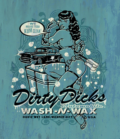 dirty dicks kum clean by Greg Dampier - Illustrator & Graphic Artist of Portland, Oregon