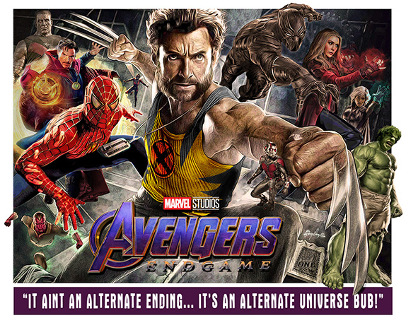Wolverine Avengers Endgame Fanart poster 6 by Greg Dampier - Illustrator & Graphic Artist of Portland, Oregon