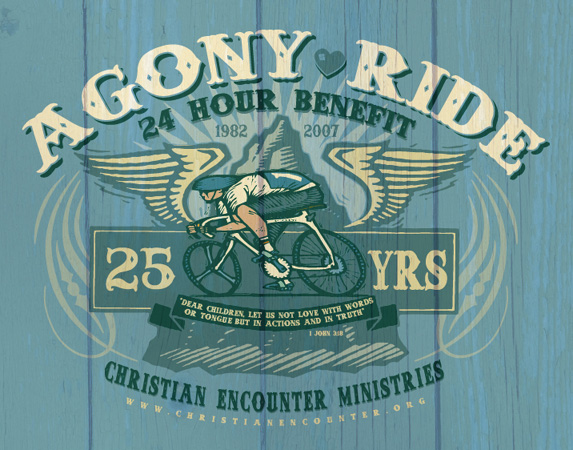 agony ride by Greg Dampier - Illustrator & Graphic Artist of Portland, Oregon