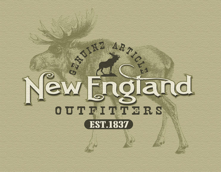 new england outfitters by Greg Dampier - Illustrator & Graphic Artist of Portland, Oregon