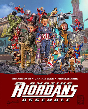 Amazing Riordans poster by Greg Dampier - Illustrator & Graphic Artist of Portland, Oregon