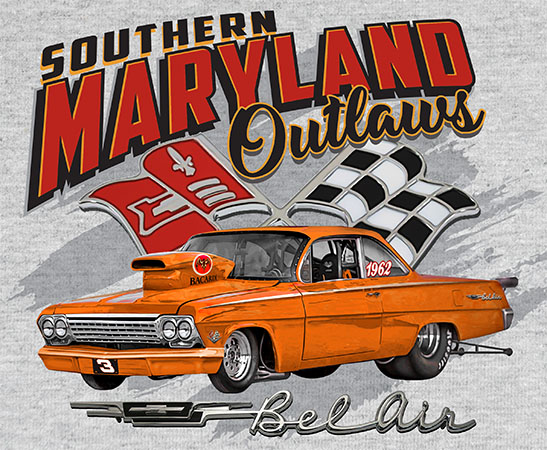 Maryland Outlaws belair by Greg Dampier - Illustrator & Graphic Artist of Portland, Oregon