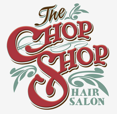 Chop Shop hair salon logo by Greg Dampier - Illustrator & Graphic Artist of Portland, Oregon