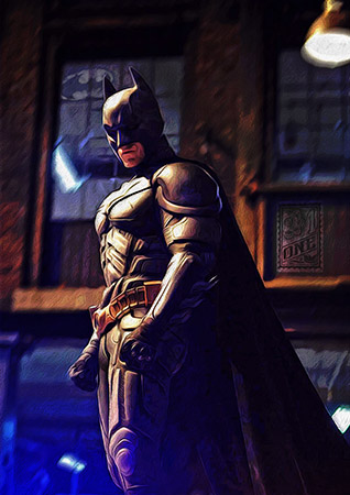 Batman dark knight fan art 4 by Greg Dampier - Illustrator & Graphic Artist of Portland, Oregon