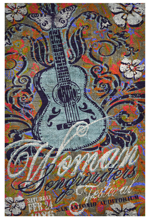 Womens songwriters festival by Greg Dampier - Illustrator & Graphic Artist of Portland, Oregon