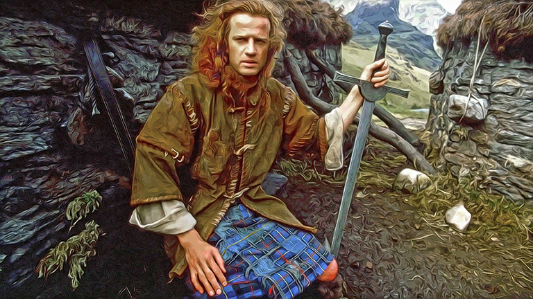 Conner Mcleod Highlander by Greg Dampier - Illustrator & Graphic Artist of Portland, Oregon