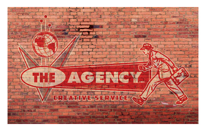 The Agency Brick wall by Greg Dampier - Illustrator & Graphic Artist of Portland, Oregon