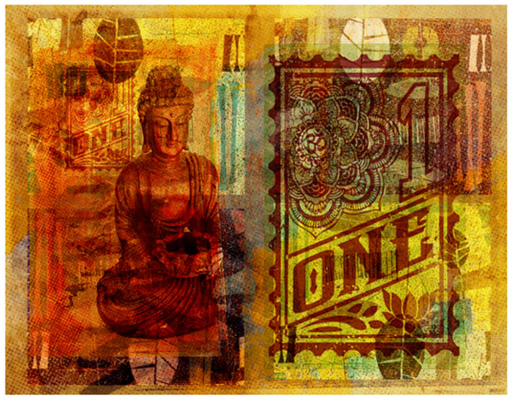Buddha ONE by Greg Dampier - Illustrator & Graphic Artist of Portland, Oregon