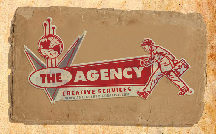 The Agency Sticker by Greg Dampier - Illustrator & Graphic Artist of Portland, Oregon