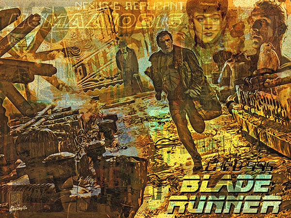 Blade Runner Poster Fan Art2 by Greg Dampier - Illustrator & Graphic Artist of Portland, Oregon