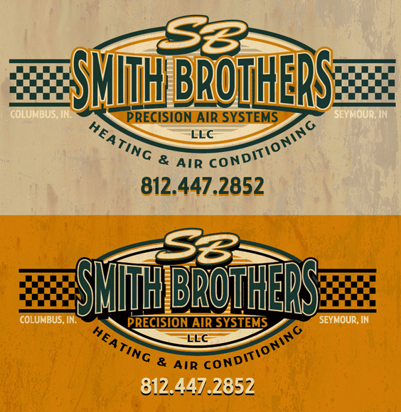 smith brothers logo by Greg Dampier - Illustrator & Graphic Artist of Portland, Oregon