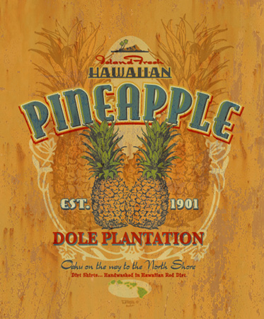 dole pineapple by Greg Dampier - Illustrator & Graphic Artist of Portland, Oregon