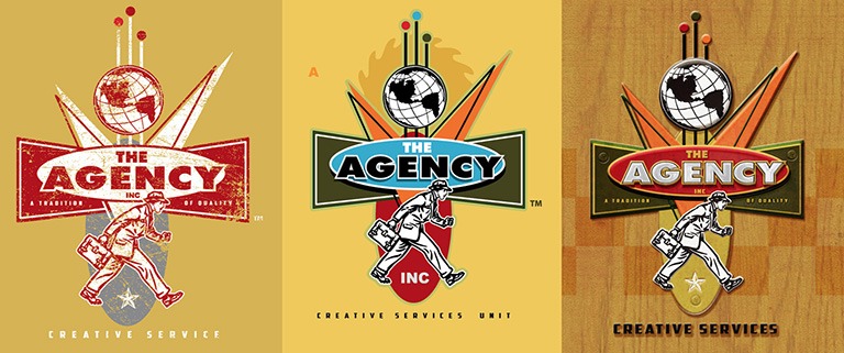 The Agency Creative Services Logo by Greg Dampier - Illustrator & Graphic Artist of Portland, Oregon