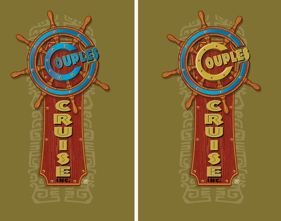 couples cruise logos 2 by Greg Dampier - Illustrator & Graphic Artist of Portland, Oregon