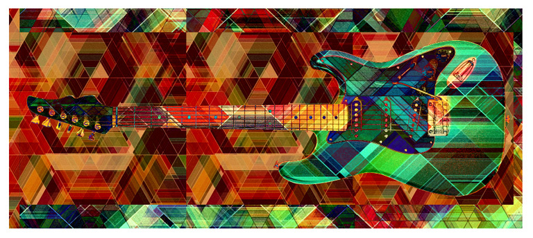 Guitar abstract modern by Greg Dampier - Illustrator & Graphic Artist of Portland, Oregon