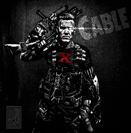 Josh Brolin as Cable fan art by Greg Dampier - Illustrator & Graphic Artist of Portland, Oregon