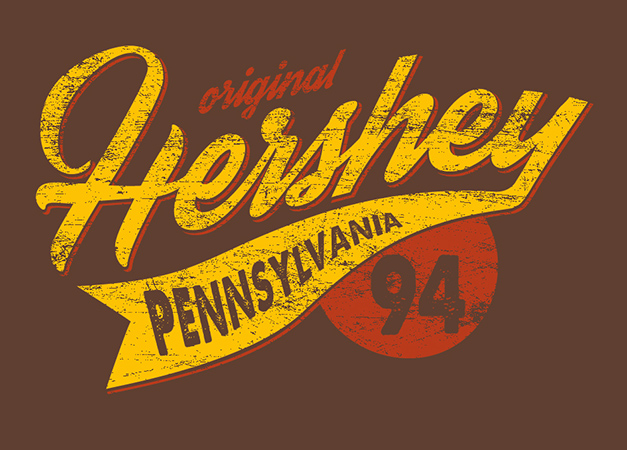Hershey PA Athletic Tail by Greg Dampier - Illustrator & Graphic Artist of Portland, Oregon
