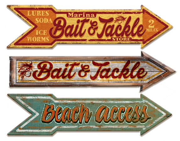 Vintage Arrow Signs by Greg Dampier - Illustrator & Graphic Artist of Portland, Oregon