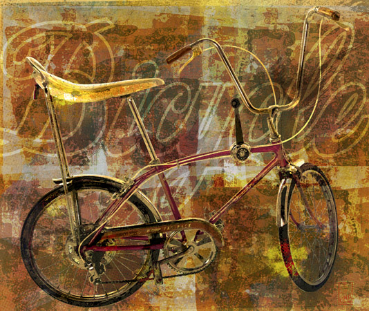 Abstract Sting-Ray Bicycle by Greg Dampier - Illustrator & Graphic Artist of Portland, Oregon