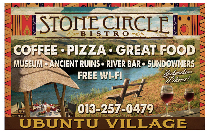Stone Circle Bistro South Africa billboard by Greg Dampier - Illustrator & Graphic Artist of Portland, Oregon