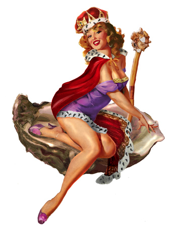 Oyster Fest pin up queen by Greg Dampier - Illustrator & Graphic Artist of Portland, Oregon
