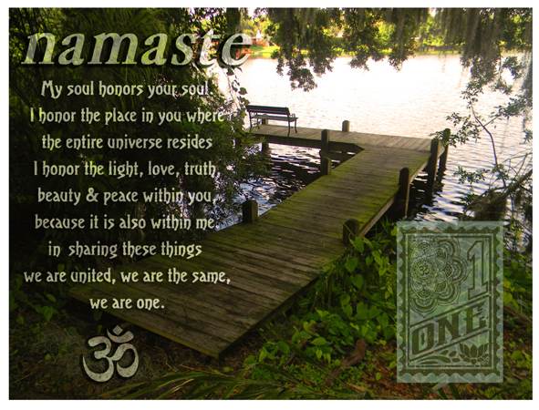 Namaste Audubon dock by Greg Dampier - Illustrator & Graphic Artist of Portland, Oregon