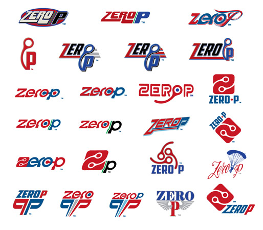 Zero P logos by Greg Dampier - Illustrator & Graphic Artist of Portland, Oregon