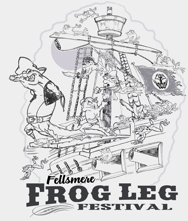 FROGLEG FEST by Greg Dampier - Illustrator & Graphic Artist of Portland, Oregon