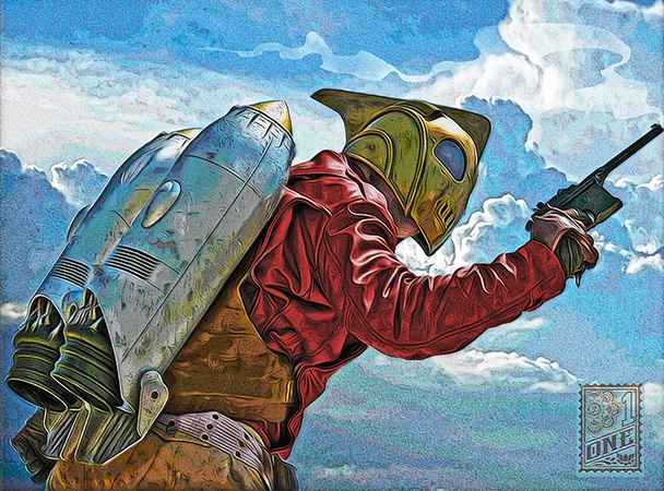Rocketeer by Greg Dampier - Illustrator & Graphic Artist of Portland, Oregon