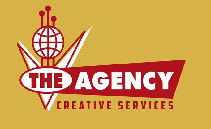 The Agency Creative Services simplified logo by Greg Dampier - Illustrator & Graphic Artist of Portland, Oregon