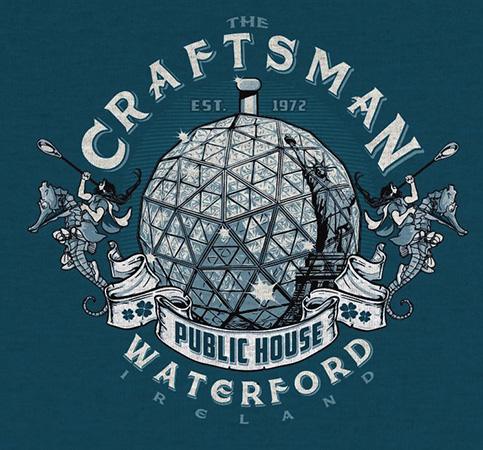 Craftsman Public House Waterford Tee by Greg Dampier - Illustrator & Graphic Artist of Portland, Oregon