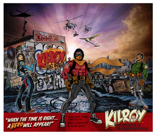 Kilroy was here poster by Greg Dampier - Illustrator & Graphic Artist of Portland, Oregon