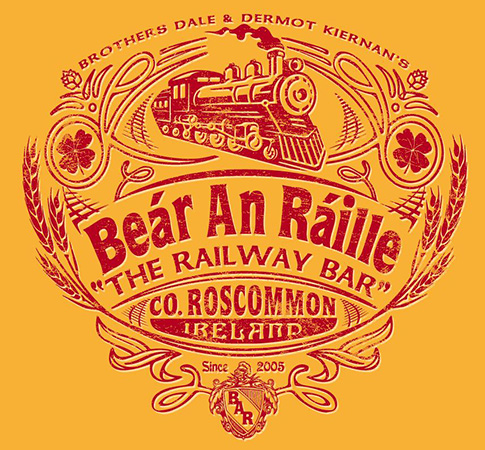 The Railway bar tee design by Greg Dampier - Illustrator & Graphic Artist of Portland, Oregon