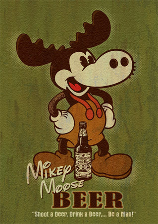 Mikey Moose by Greg Dampier - Illustrator & Graphic Artist of Portland, Oregon