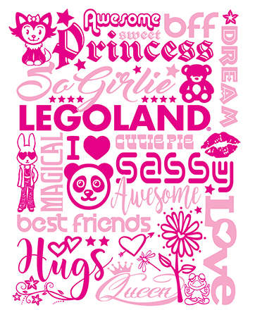 Legolnd Girls Type Foil tee by Greg Dampier - Illustrator & Graphic Artist of Portland, Oregon