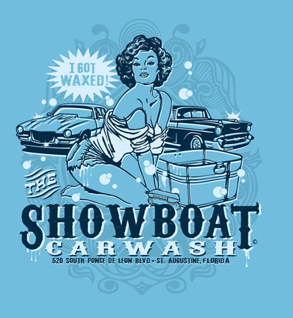 Showcoat carwash I got waxed by Greg Dampier - Illustrator & Graphic Artist of Portland, Oregon