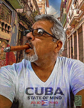 Julio Pino Cuba State of Mind by Greg Dampier - Illustrator & Graphic Artist of Portland, Oregon
