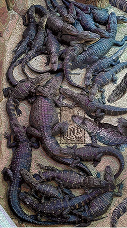 Alligator Orgy by Greg Dampier - Illustrator & Graphic Artist of Portland, Oregon