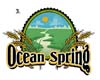 Logos • Ocean Spring Logo Option 3 by Greg Dampier All Rights Reserved.