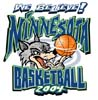 T Shirts • Sports Related • Minnesota Basketball Wolves2 by Greg Dampier All Rights Reserved.