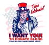 T Shirts • Blood Bank • Uncle Sam by Greg Dampier All Rights Reserved.